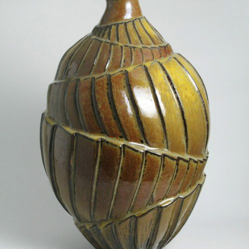 Counterpoint 1 - Gold Ceramic Vase
