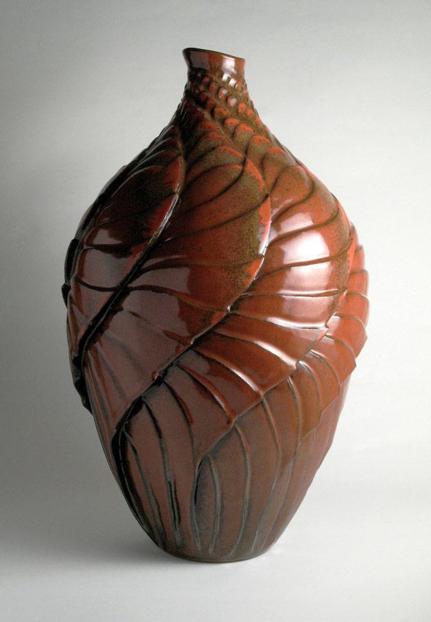 Flight 2 The Phoenix - Red ceramic vase