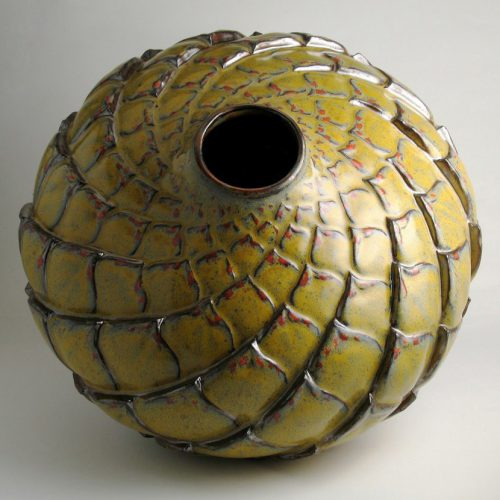 Gold Before Blooming - Gold Ceramic Pot