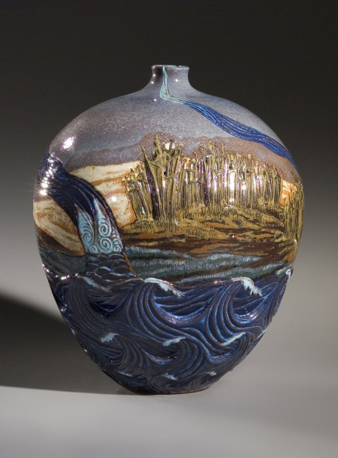 In the Reed Bed 2 - Ceramic pot