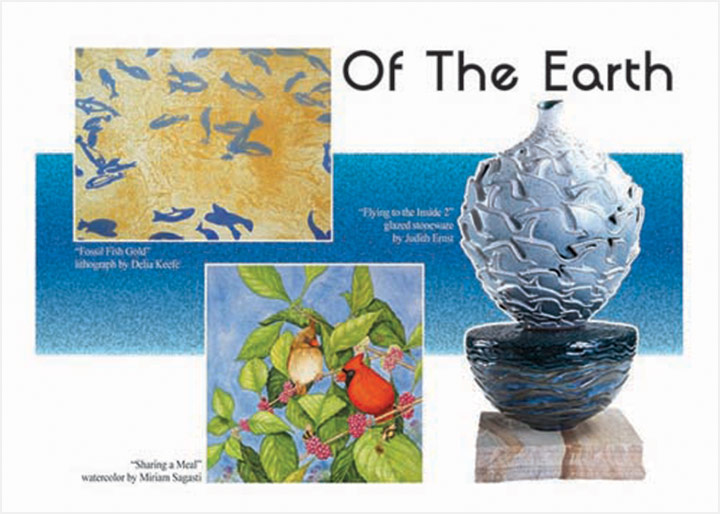 Of The Earth Postcard Showing Art By Judith Ernst