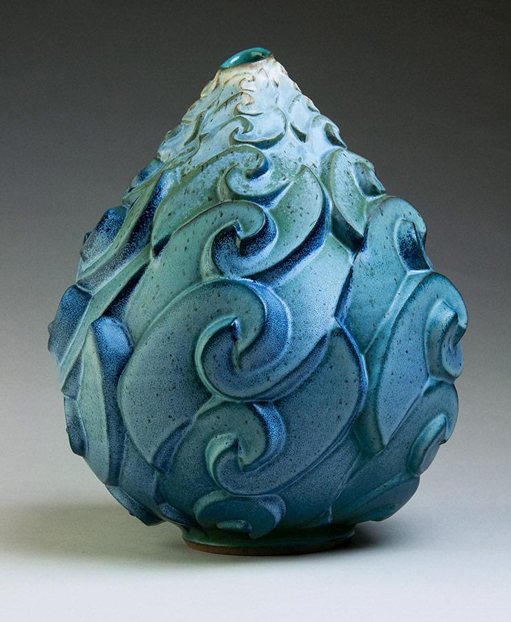 Roiling Surf - Ceramic pot