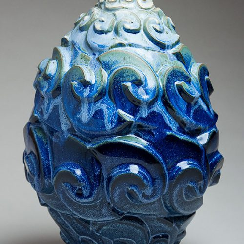 Storm Surge - Ceramic Pot