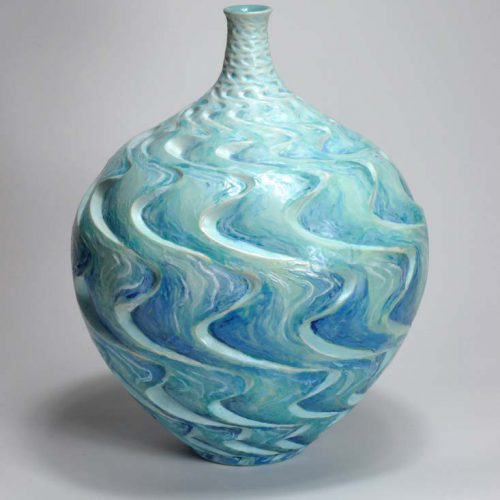 The Churning Of The Cosmic Ocean - Ceramic Pot