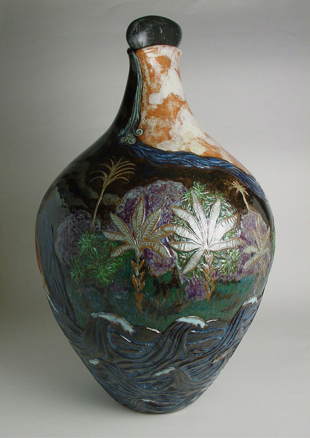 The Masters House Has Two Doors Jungle - Ceramic pot