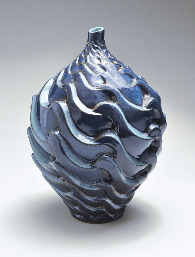 Tsunami Chorus - Ceramic pot
