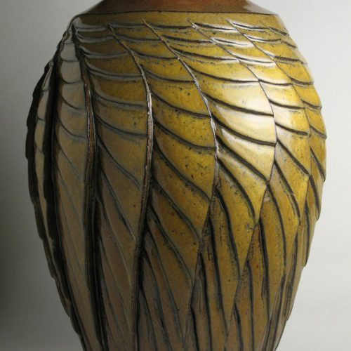 Unfolding - Gold Ceramic Vase