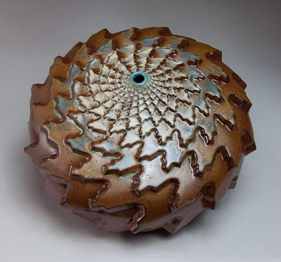 Autumn Snow - Rust colored ceramic pot