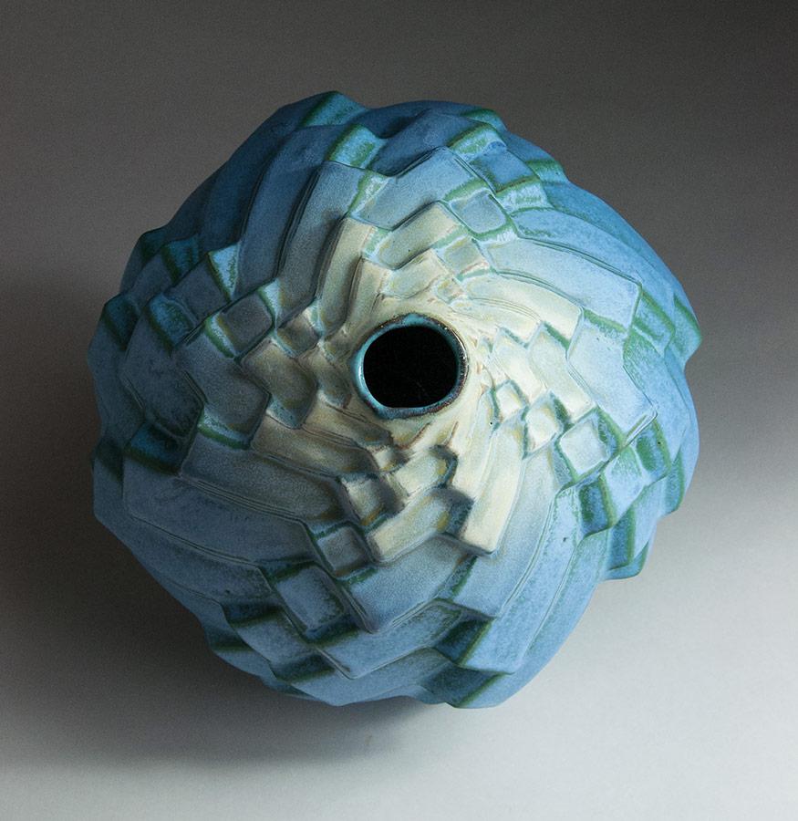 Staccato Waltz - Blue ceramic pot